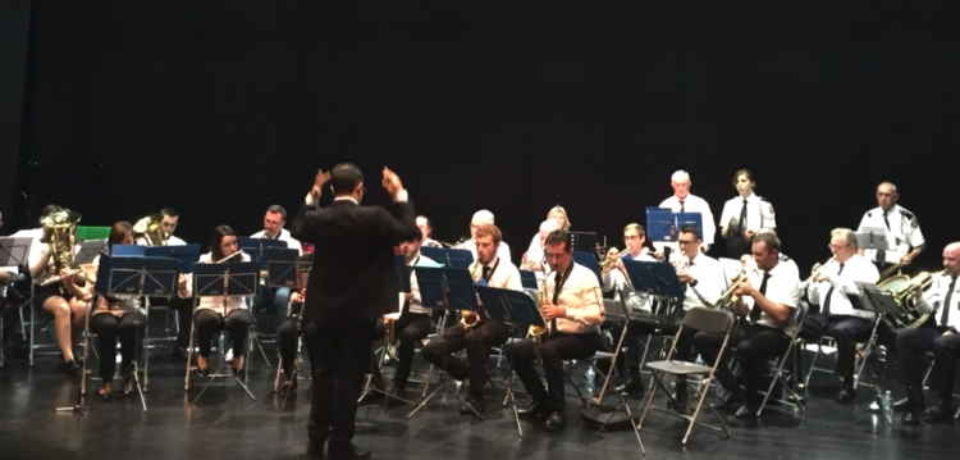 15 novembre 2019. Concert de Ste Cécile à Bourganeuf et remise de médaille.