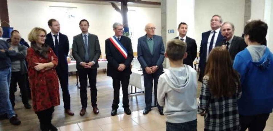 23 novembre 2019. La Villetelle. Remise de médaille à M. Jean BATTUT.