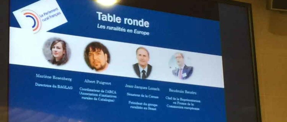 12 février 2020. Parlement européen. Intervention lors de la Première commission Europe du Parlement rural français, à Strasbourg.