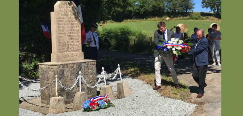 19 juillet 2020. Saint Dizier -Masbaraud. Commémoration des massacres de la Croix de la Mine et du village de Murat.