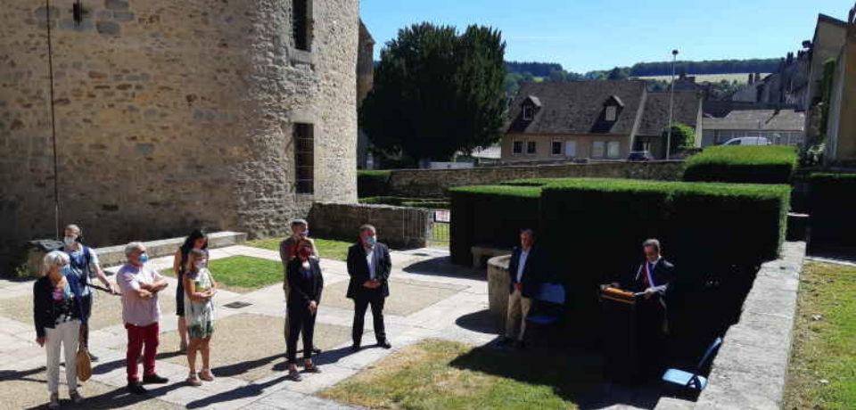 20 juillet 2020. Bourganeuf. Inauguration du lieu d'accueil relais des victimes de violences conjugales.